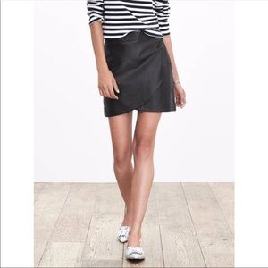 Banana Republic 100% Lamb Leather Skirt Size 6